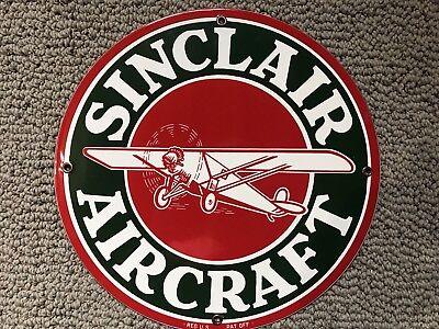 Phillips 66 Aviation Gasoline vintage style Porcelain Enamel Sign