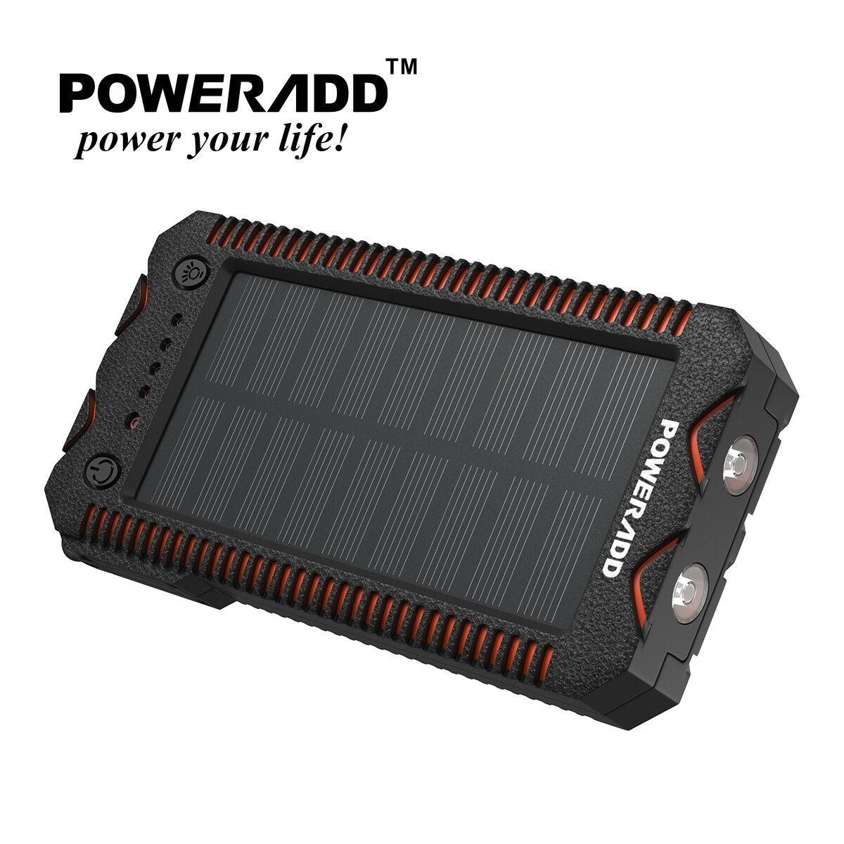 Poweradd 12000mAh 2 USB Solar Power Bank