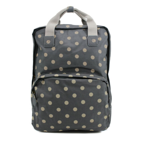 Ladies Oilcloth Backpack Rucksack School College Shoulder Laptop Bag Womens