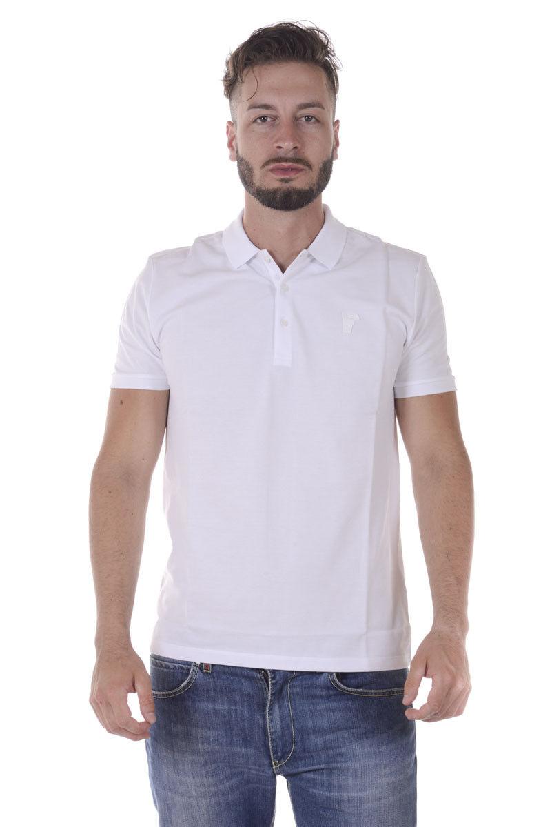 Polo Versace Collection Shirt Cotone Uomo Bianco V800543AVJ00068 V1003