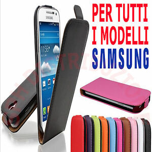 FLIP-COVER-Pellicola-Custodia-chiusura-magnetica-slim-libro-per-Samsung-Galaxy