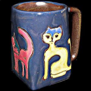 Image Is Loading Ceramica Mara Mexican Pottery Mexico Stoneware Square Kitty
