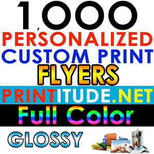 Image Is Loading Custom Printed 1000 FLYERS 8 5X5 5 FULL