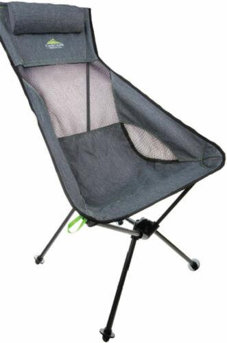 Cascade Mountain Tech Ultra Light Packable High-Back Camping Outdoor Chair