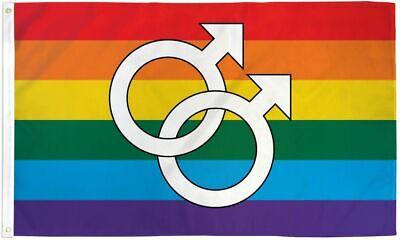 Double Venus Rainbow Flag 3x5 LGBTQIA Lesbian Pride Double Female Symbol WLW