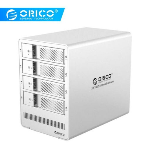"ORICO 3.5/"" USB 3.0 Aluminum 2//4//5 Bay Tool free HDD Hard Drive Enclosure Case"
