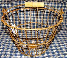 Rusty Wire Egg Basket Wood Handle Vintage Country Farmhouse