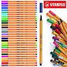 STABILO Point 88 Fineliner Ballpoint Pens - Assorted Colours Art Wallet of 30