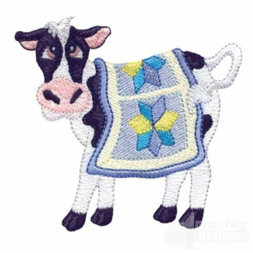 COW COUNTRY COLLECTION MACHINE EMBROIDERY DESIGNS ON CD OR USB