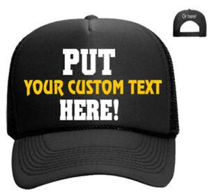 00fedcdbab9 Create your own Hat Snapback Trucker Custom Cap Personalized Mesh ...