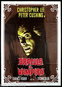 DRACULA IL VAMPIRO MANIFESTO CINEMA FISHER CHRISTOPHER LEE HORROR 1958 POSTER 4F