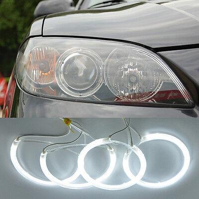 7000K White CCFL Angel Eyes Halo Ring Kit For 04-08 Mazda 3 Sedan Hatchback