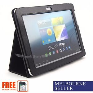 NEW Premium Leather Flip Case For Samsung Galaxy Tab 2 10.1 P5100 P5110+Film