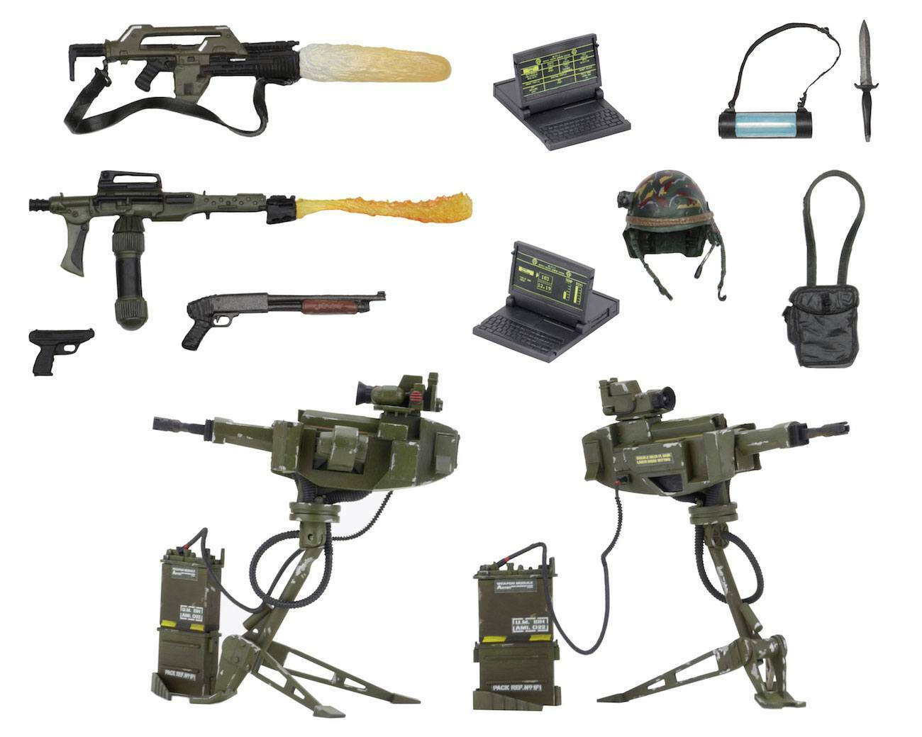 Aliens Uscm Arsenal Arma Accessory Set per Action Figures Neca Nuovo (Ka6
