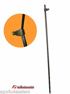 EARTH GROUNDING ROD /& CLAMP ELECTRIC FENCE CHARGER ENERGISER GROUND SOLAR STAKE