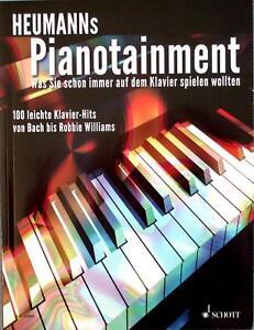 Klavier-Noten-Heumann-039-s-PIANOTAINMENT-leichte-Mittelstufe-100-Hits