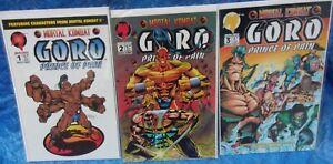 Malibu-Comics-Mortal-Kombat-Goro-Prince-Of-Pain-Full-Set-Complete-Lot-1-2-3-MK