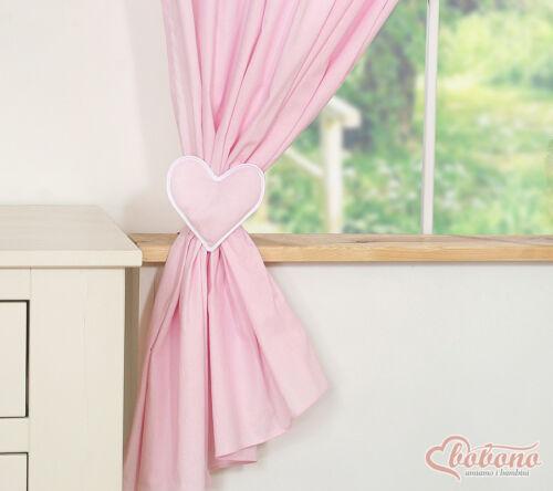 1 Paar Vorhänge Kinderzimmer Gardinen Seitenschals Herzen bestickt 8 Farben