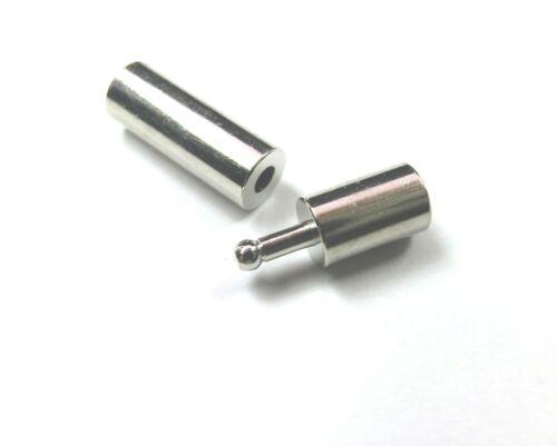 10 x Steckverschluss Bajonettverschluss für 3mm Bänder Verschluss #S508