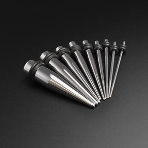 10 Oreille Taper Kit Écarteurs Acier Chirurgical Miroir Poli Stretcher 1,6 mm