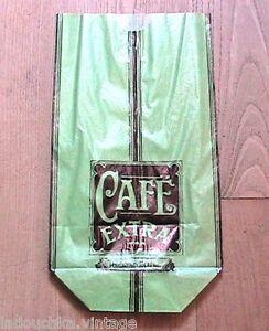 FRENCH ART DECO 1920s COFFEE BEANS PACKAGING PAPER BAG~GREEN & BLACK~UNUSED~RARE - France - État : Neuf: Objet neuf et intact, n'ayant jamais servi, non ouvert. Consulter l'annonce du vendeur pour avoir plus de détails. ... Type of Advertising: Packaging Paper Bag Coffee Packaging Paper Bag: Light Emerald Green and Black colors date o - France