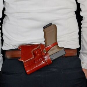 Details about Leather Small of Back (Sob) Holster  Choose Gun Model & Color