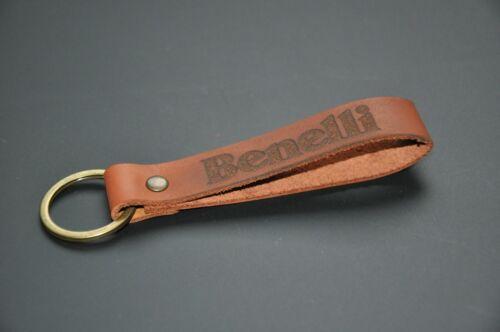 Personalized keychain. Benelli keychain keyring leather