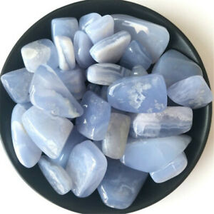 Chalcedony-light-blue-Ore-Crushed-Gravel-Stone-Chunk-Lots-Degaussing-tumbled