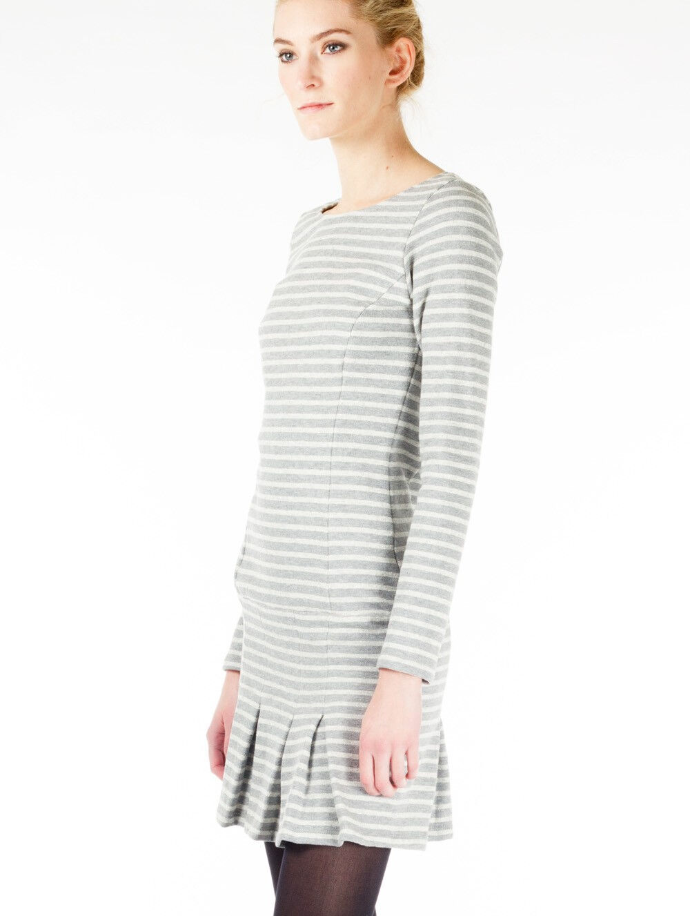 Thomas Sires Striped Sweatshirt Dress size S