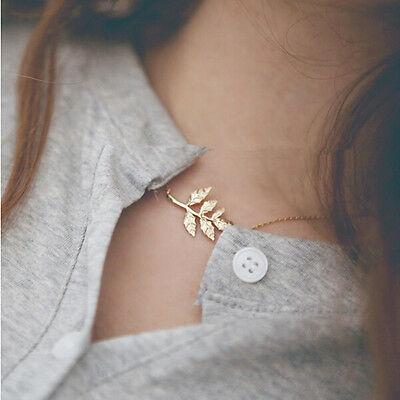 Women Fashion Leaf  Girl Collar Choker Long Chain Necklace Pendant Pendents
