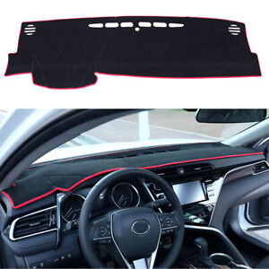 Toyota Camry 2018 Interior >> Details About For Toyota Camry 2018 2019 Dashmat Dash Cover Dashboard Mat Car Interior Pad Red