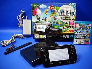 Wii-U-Konsole-32-GB-schwarz-New-Super-Mario-Bros-New-Super-Luigi-Pack-OVP-8075