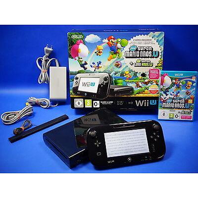 Wii U Konsole 32 GB schwarz New Super Mario Bros New Super Luigi Pack OVP ~8075