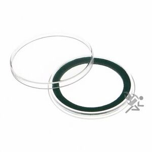 25 Air-Tite 32mm Green Velour Ring Coin Capsule Holders Qty
