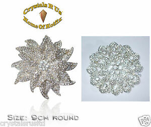 HUGE-FLOWER-FASHION-vintage-BROOCH-BROACH-CRYSTAL-bling-WEDDING-BRIDAL-BOUQUET