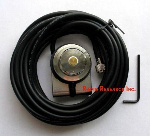 Double Shield RG58 Mini-UHF Trunk NMO Antenna Mount for Motorola Mobile Radio