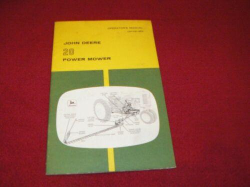 John Deere 20 Power Mower Operator/'s Manual WPGH