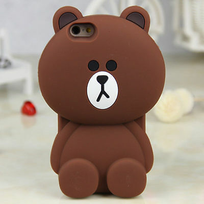3D Cute Animals Cartoon Soft Silicone Case Cover Back For Samsung Galaxy Phones