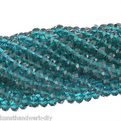 KUS 70 Klar Kristall Facettiert Böhmische Glasschliffperlen Beads 8mm