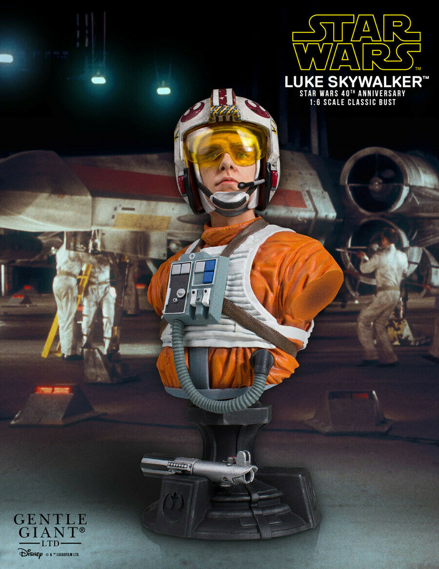 en promociones de estadios Estrella Wars Episode IV Bust 1 6 6 6 Luke Skywalker X-Wing Pilot 40th Anniversary SDCC  saludable