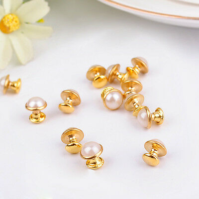 DIY 7mm accessories golden White beads rivets leather craft punk studs ZD36