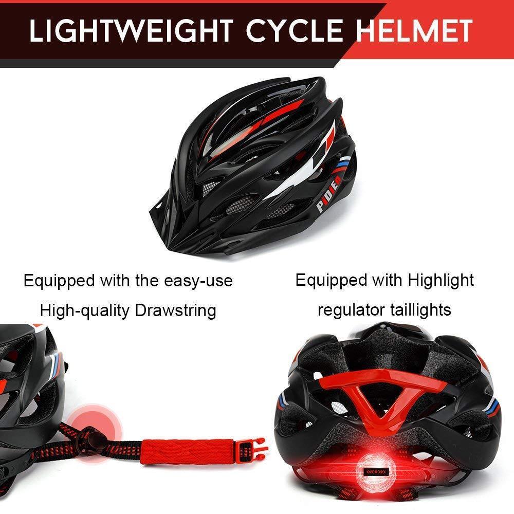 Bike Helmet,Ultra lightweight Adult Cycling Helmet with Tail Light