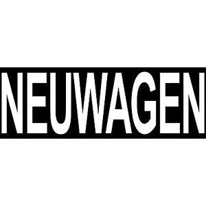 Neuwagen 30cm Aufkleber Hinweis Sticker Reklame Autohaus Auto Handel Verkauf