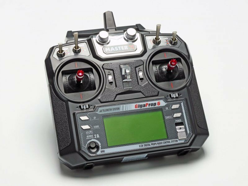 Radio Controll 2,4 Ghz Master Gigaprop 6 Set Telemetry Capable
