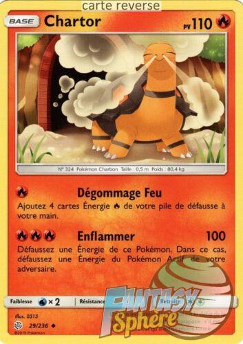 Pokemon VF Français reverse Chartor 29//236 SL12