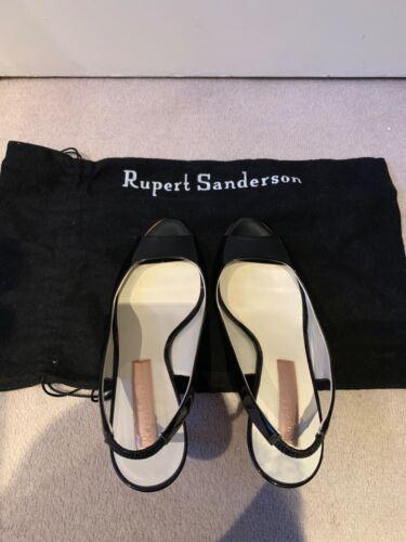 talons arrière 37 Eu cuir à Sanderson noir à Rupert verni 5 aiguilles en bride Chaussures PUtnw