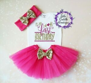 Image Is Loading It 039 S My First Birthday Baby Tutu