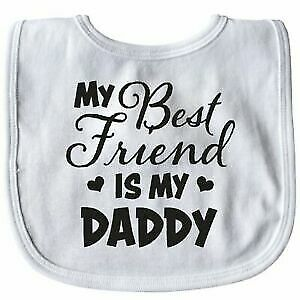 New Personalised Baby Bib White I Have the Best Uncle in the World
