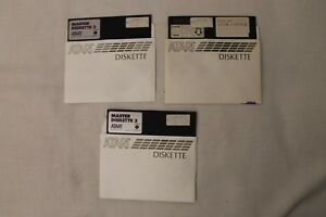 Lot-of-3-1-Master-Diskette-II-amp-2-Master-Diskette-III-Atari-5-25-034-Floppy-Disk