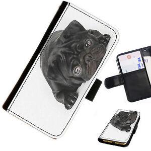 doga02-NERA-CARLINO-stampato-Portafoglio-in-pelle-Flip-Custodia-cover-telefono